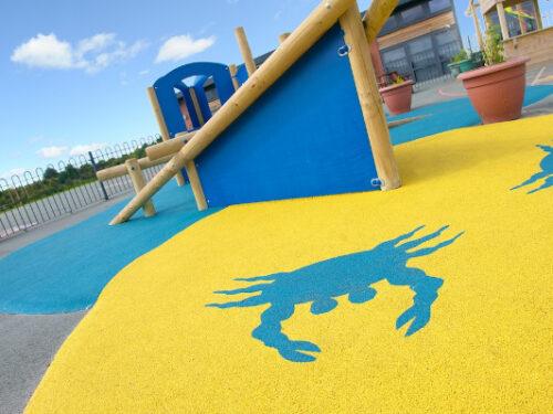Wetpour playground surfacing