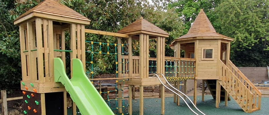 exciting new playground climbing system