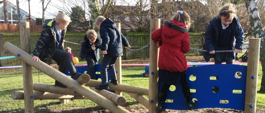 new climbing playground equipment that's improving attendance in primary schools
