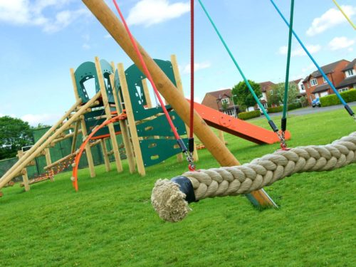Aiskew parish council swing and climbing play park equipment