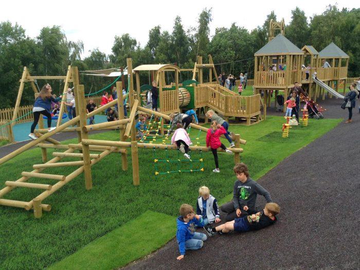children using a museum playground