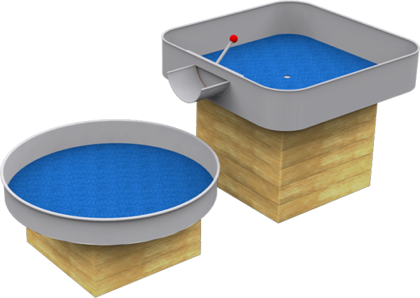 water playground equipment with double water boxes