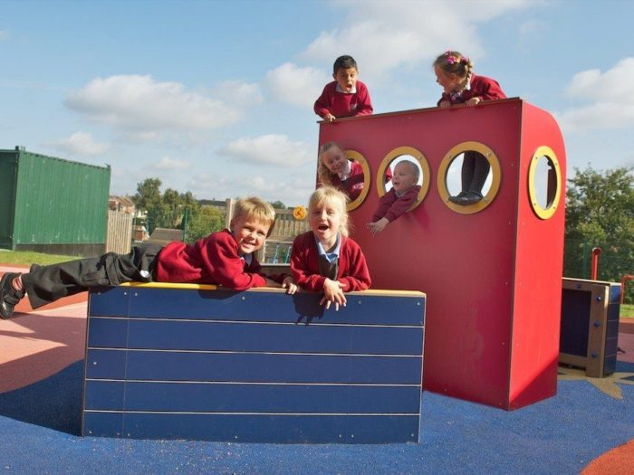 bespoke play boat at Glade Hill Primary School