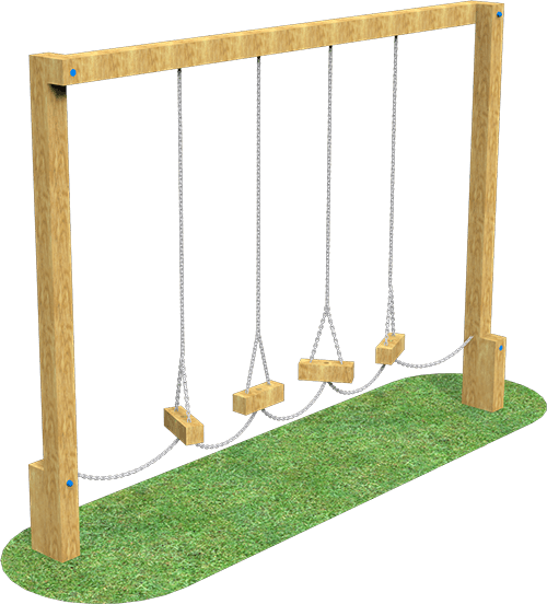 log traverse adventure playground equipment