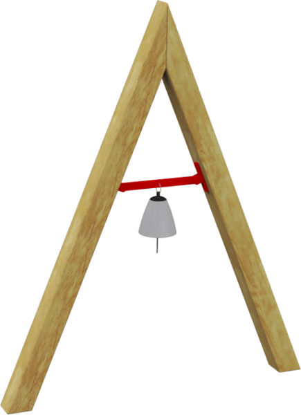 A-frame bell musical playground equipment