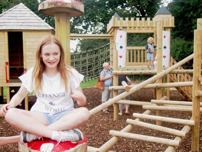 Alice in Wonderland bespoke playground climber and seating