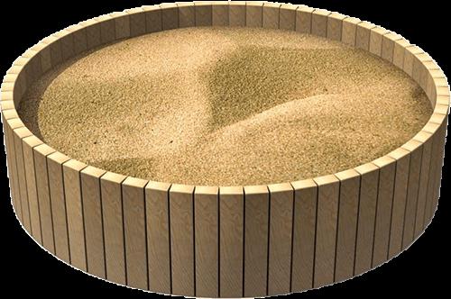 round playground sandpit