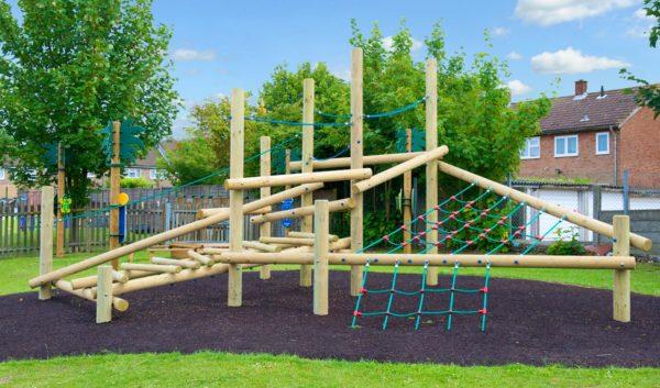 scatterlog climbing playground equipment