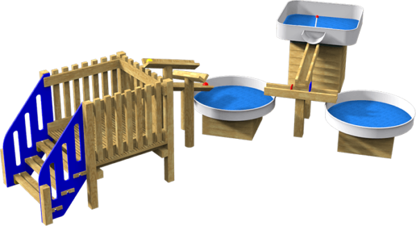 water playground equipment and platform