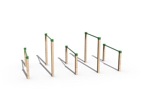 green playground hurdles