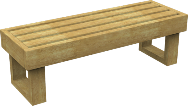 wooden playground bench