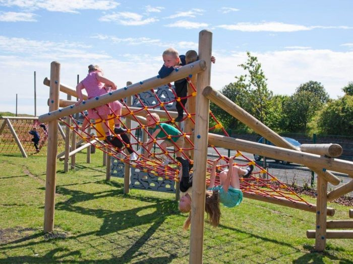 climbing playground equipment at Morpeth Road Primary School