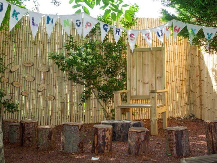 natural reading space and outdoor classroom