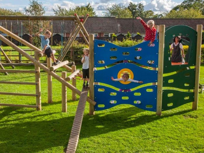 Easingwold Memorial Park playground climbing system