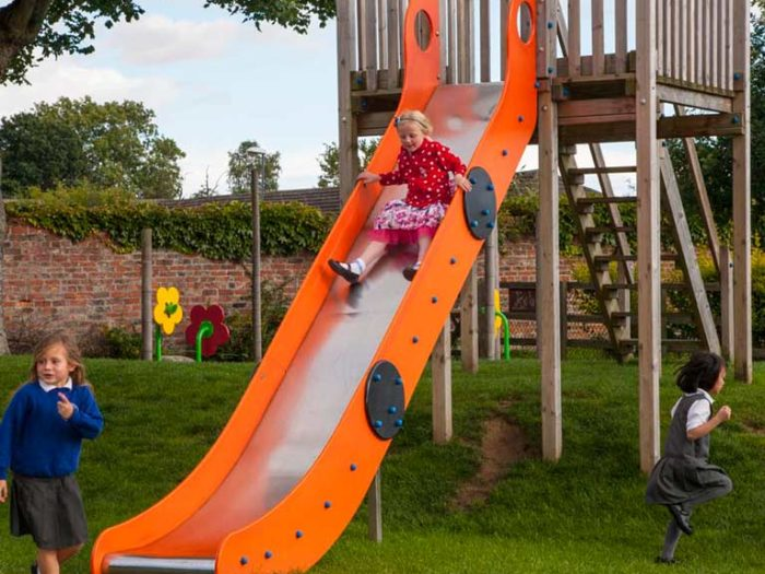 slide and climber at Easingwold Memorial Park