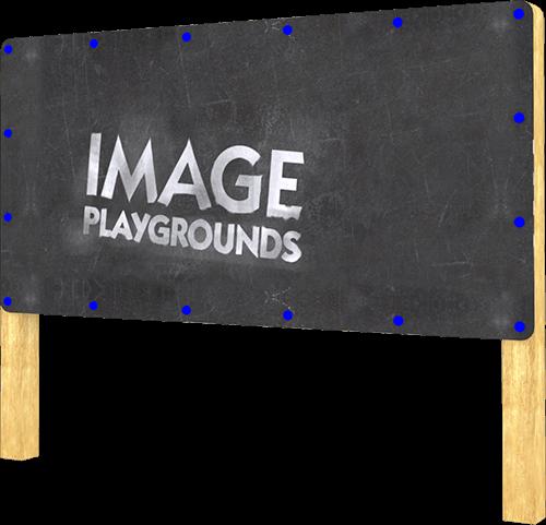 large outdoor blackboard