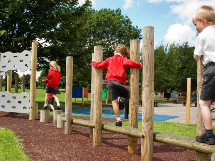adventure trim trail at Ordsall Primary School
