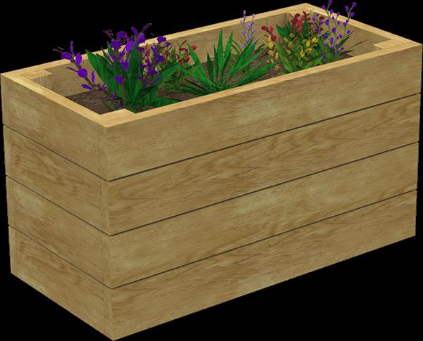 rectangular playground planter