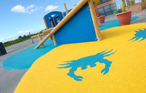 clean playground safety surface after playground maintenance