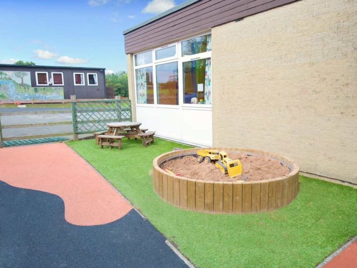 circular school sandpit