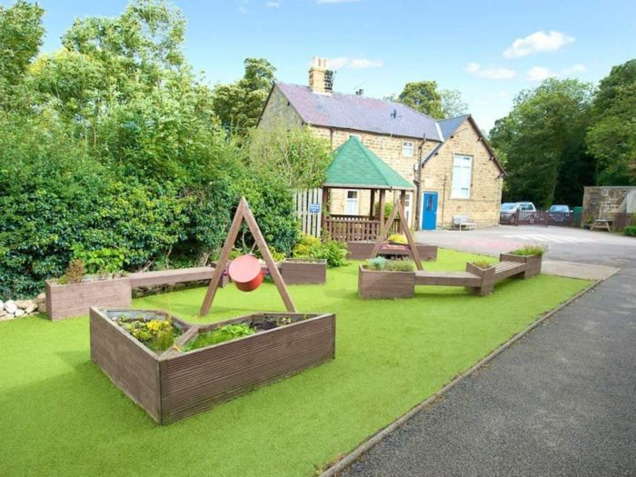 sensory garden at Kirkby Malzeard Primary School