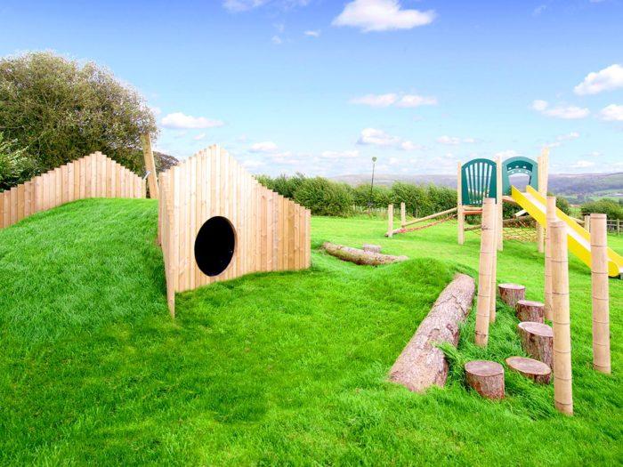 natural, wooden playground design