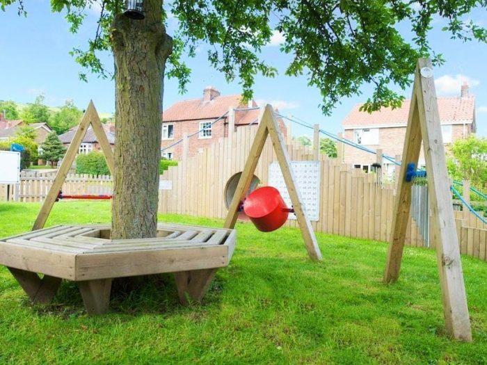chimes and drum musical playground equipment