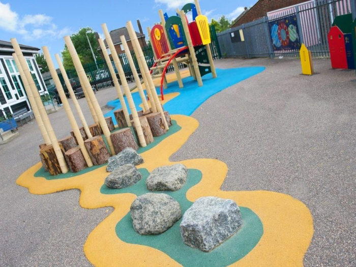 playground adventure trail and climbing system