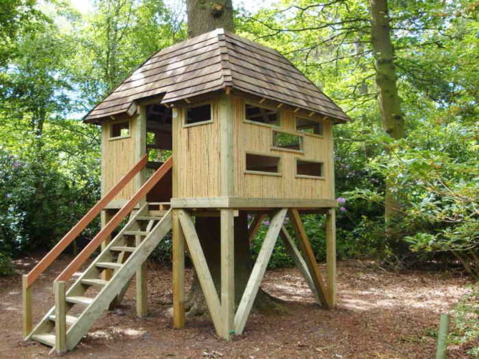 Yorkshire Wildlife Trust's playground tree house and learning zone