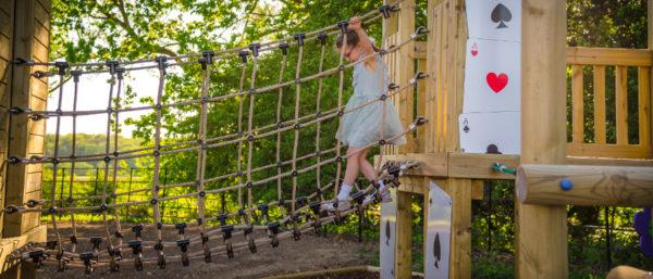 Alice in Wonderland themed new playground equipment