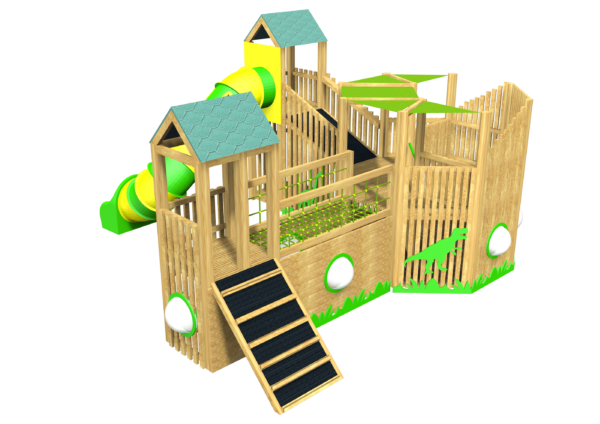 Jungle Explorer, Tower System, Dinosaur, Tube Slide