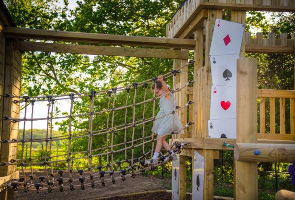 Alice in Wonderland bespoke playground equipment