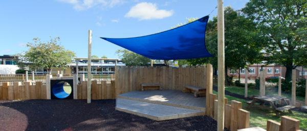playground canopy creating shade