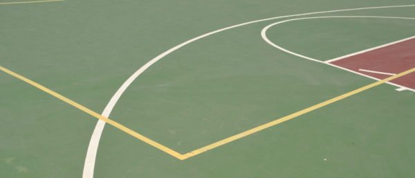 playground surface with different sports lines