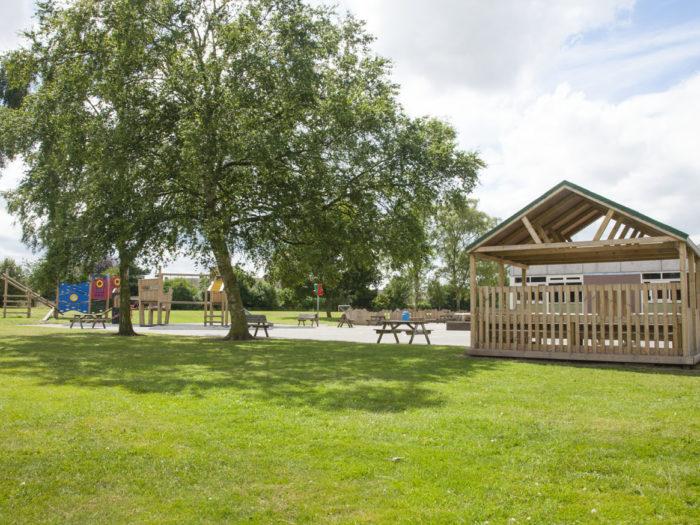 outdoor classroom at Ordsall Primary School