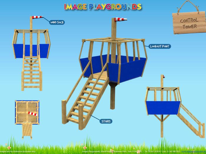 control tower bespoke climbing playground design