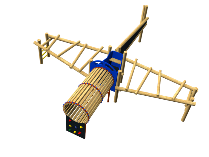 aeroplane themed climbing structure