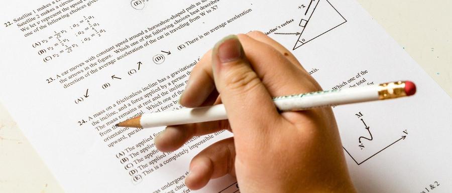 child doing their maths homework