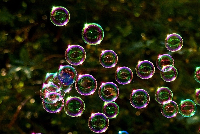 bubbles in the park for children to pop