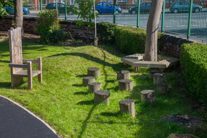 clean outdoor playground seating
