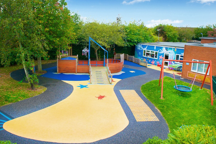 clean playground wet pour surface