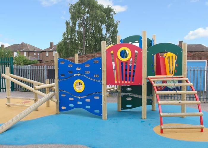 clilmbing EYFS playground equipmet