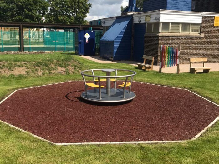 housing development playground roundabout