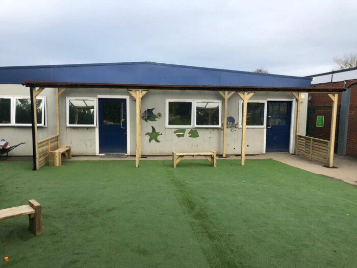 artificial grass at a school