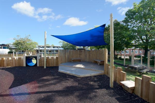 St Annes School playground sail