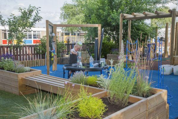 playground planter seating