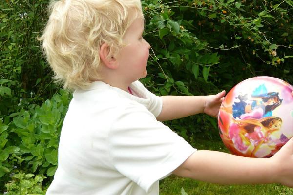 child catching a ball