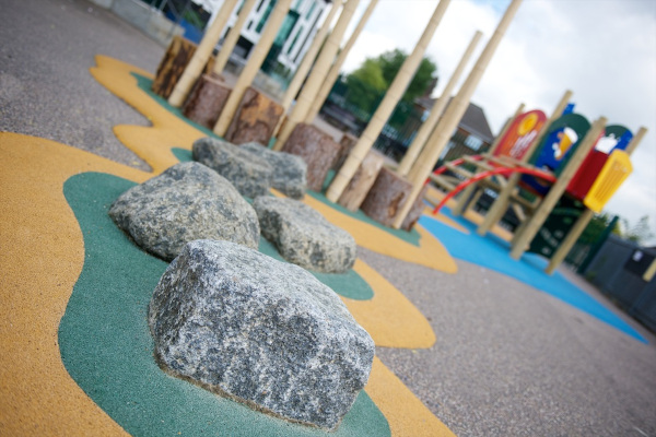 Wetpour playground surface