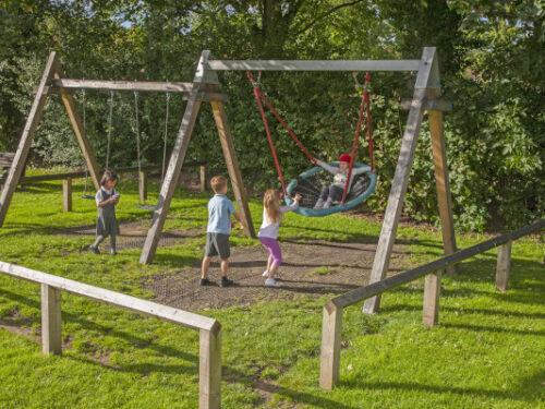 children playing swing games