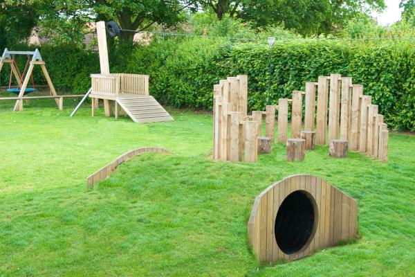 grass covered playground